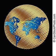 χρυσός , χάρτηs , κόσμοs