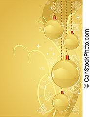 χρυσός , xριστούγεννα , φόντο