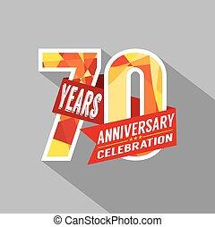 χρόνια , επέτειος , celebration., 70th