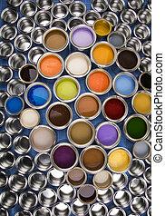 χρώμα , απεικονίζω γανώνω , μέταλλο , cans