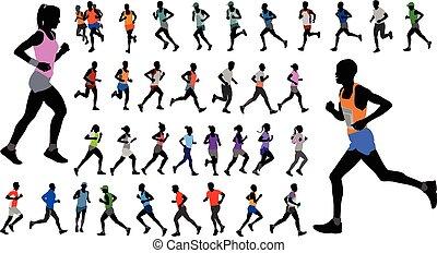 χρώμα , απεικονίζω σε σιλουέτα , αθλητικό ντύσιμο , δρομέας , συλλογή