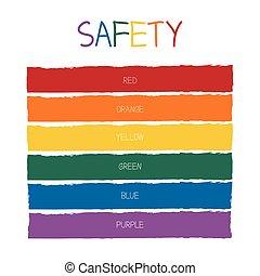 χρώμα , ασφάλεια , τονίζομαι