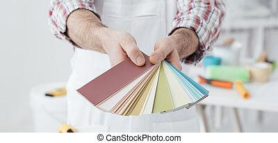 χρώμα , βάφω , αποφασίζω
