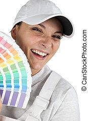 χρώμα , βάφω , διακοσμητής , κράτημα , γραφική παράσταση