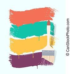 χρώμα , βάφω , σημαίες , βούρτσα