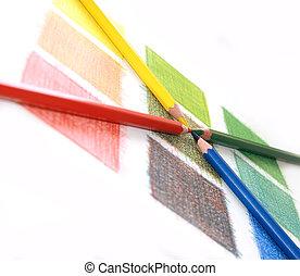 χρώμα , γράφω , ανακατεύω