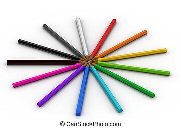 χρώμα , γράφω
