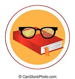 χρώμα , κορνίζα , βιβλίο , εγκύκλιος , γυαλιά