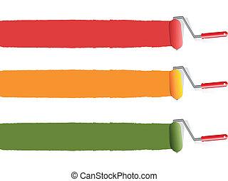 χρώμα , κυλινδρικό πινέλο