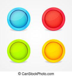 χρώμα , λείος , κουμπιά