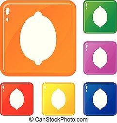 χρώμα , λεμόνι , μικροβιοφορέας , θέτω , απεικόνιση