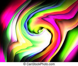 χρώμα , ουράνιο τόξο , αφαίρεση
