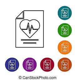 χρώμα , προστασία , buttons., άσπρο , μαύρο , ασθενής , concept., απομονωμένος , εικόνα , ασφάλεια , protection., προστατεύω , ασφάλεια , απεικόνιση , κύκλοs , θέτω , μικροβιοφορέας , φόντο. , υγεία , γραμμή , ασφάλεια
