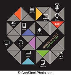 χρώμα , φόρμα , κοινωνικός , μοντέρνος , μέσα ενημέρωσης , icons., infographic, ευχαριστημένος