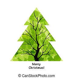 χρώμα , χριστουγεννιάτικο δέντρο