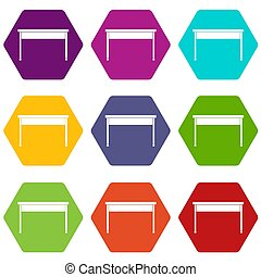 χρώμα , hexahedron, θέτω , γραφείο , εικόνα