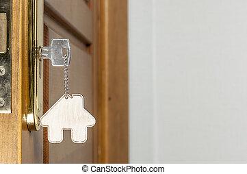 χρώμιο , σπίτι , σχήμα , κρεμαστό κόσμημα , κλειδί , σπίτι , ασημένια