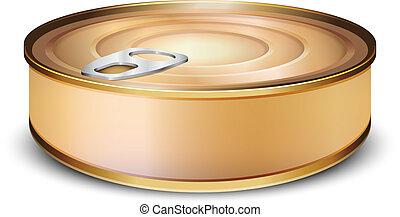 χρώμιο , tincan, απομονωμένος , αναμμένος αγαθός