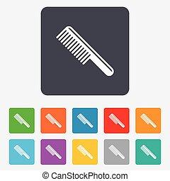 χτενίζω , μαλλιά , σήμα , icon., κουρέας , σύμβολο.