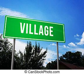 χωριό , δρόμος αναχωρώ