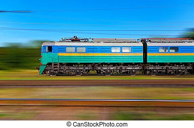 ψηλά , τρένο , ταχύτητα