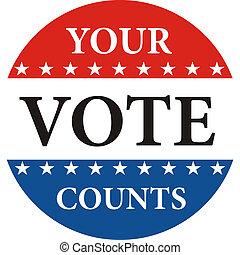 ψηφίζω , αθροίζω , δικό σου