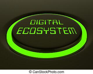 ψηφιακός , eco, σύστημα , δεδομένα , αλληλεπίδραση , 3d , απόδοση