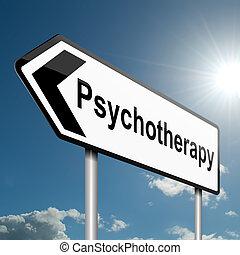 ψυχοθεραπεία , concept.