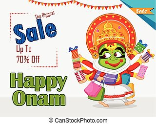 ψώνια , προσφορά , γιορτή , πώληση , kerala , onam, χορευτής...