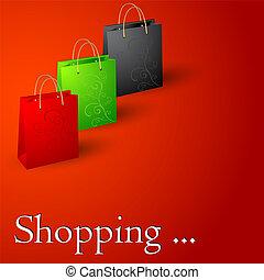 ψώνια , bags.