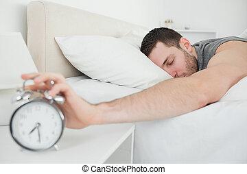 ωραία , άγρυπνος , τρομάζω , κοιμάται , άντραs , ζωή , ρολόι