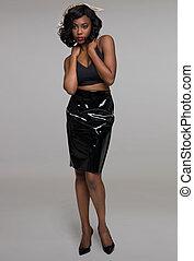 όμορφος , αμερικάνικος γυναίκα , νέος , αφρικανός