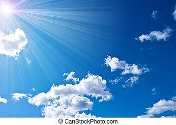 όμορφος , γαλάζιος ουρανός