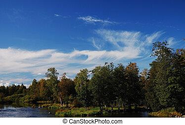 όμορφος , γαλάζιος ουρανός , ευφυής , τοπίο