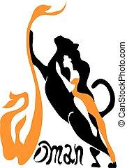 όμορφος , γενική ιδέα , panther., γυναίκα , άγριος , κορίτσι