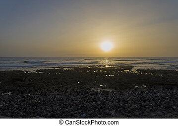 όμορφος , δεσπόζων , tenerife , δύση του ωκεανού , sunset.