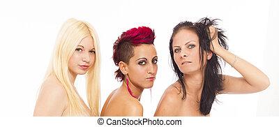 όμορφος , ελκυστικός προς το αντίθετον φύλον , λεσβία , 3 γυναίκα
