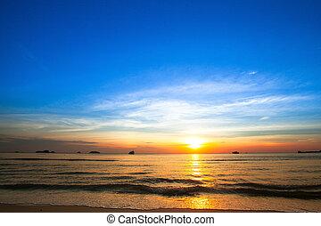 όμορφος , ηλιοβασίλεμα , θάλασσα , coast.