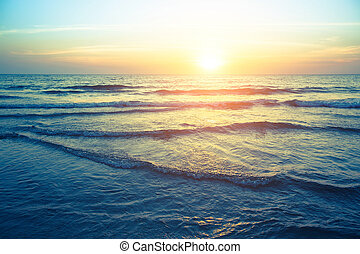 όμορφος , ηλιοβασίλεμα , coast., θάλασσα