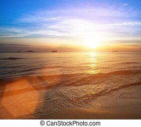 όμορφος , ηλιοβασίλεμα , sea., ακτή
