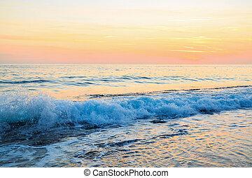 όμορφος , ηλιοβασίλεμα , sea.