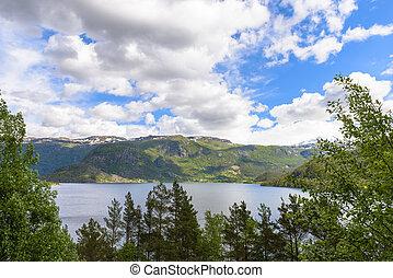 όμορφος , θέα , νορβηγία