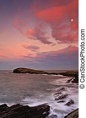 όμορφος , θαλασσογραφία , ηλιοβασίλεμα