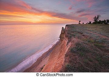 όμορφος , θαλασσογραφία , cliff., φύση