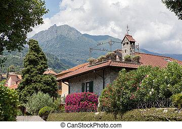 όμορφος , ιταλία , κήπος , σπίτι , πράσινο , λουλούδια