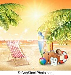 όμορφος , καλοκαίρι , παραλία