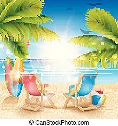όμορφος , καλοκαίρι , παραλία , φόντο