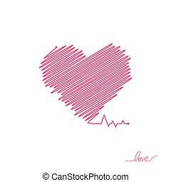όμορφος , καρδιά , απλό , μοντέρνος , σήμα , healthcare , colors., design., ρυθμός , φόντο. , άσπρο , logo., κόκκινο , διαμέρισμα , pulse., εικόνα , μοναχικός , ιατρικός , cardiogram., μικροβιοφορέας , καρδιοχτύπι , icon., ή