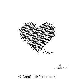 όμορφος , καρδιά , απλό , μοντέρνος , σήμα , healthcare , colors., design., ρυθμός , φόντο. , μαύρο , άσπρο , logo., διαμέρισμα , pulse., εικόνα , μοναχικός , ιατρικός , cardiogram., μικροβιοφορέας , καρδιοχτύπι , icon., ή