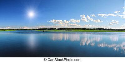όμορφος , λίμνη